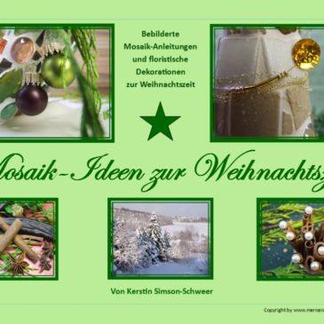 Anleitung Mosaike basteln für Weihnachten