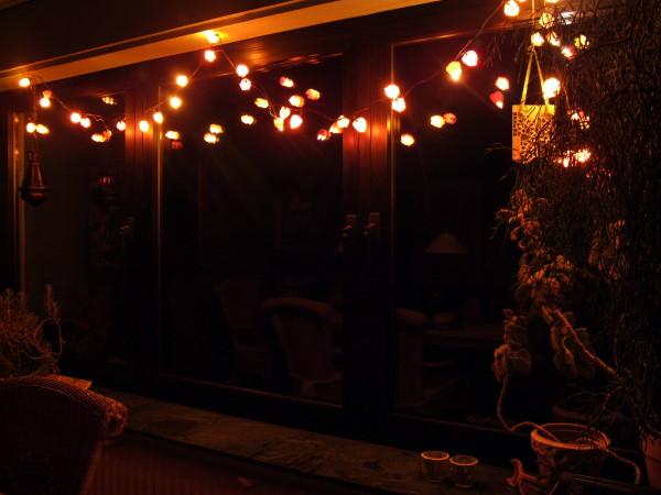 Lichterkette mit lampions
