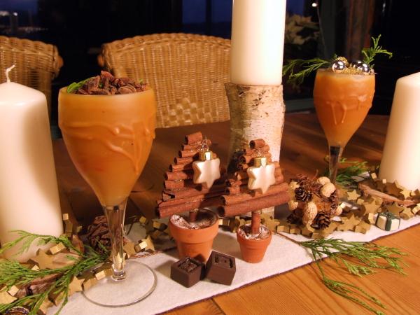 Tischdeko mit Zimt Advent