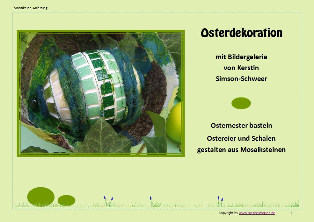 Mosaik Ostereier Anleitung