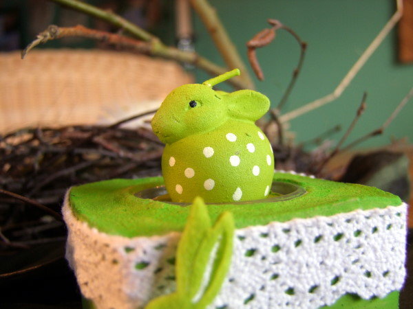 Teelichthalter in Grün