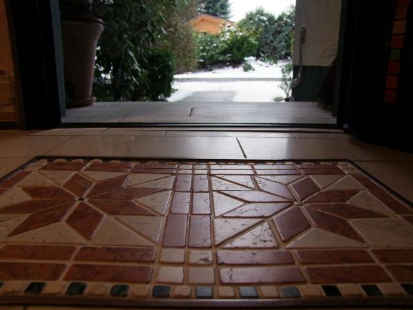 Mosaik Fussmatte im Flur