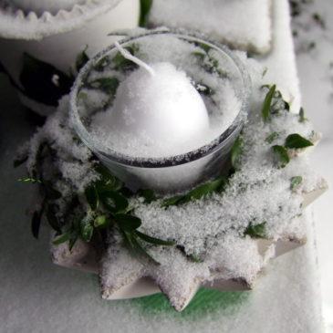 Beton Sterntopf im Schnee