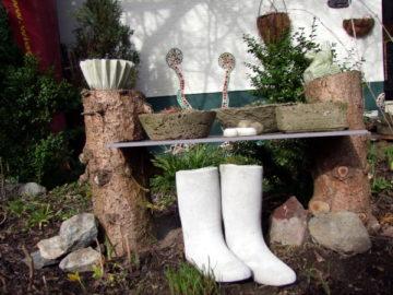 Topfgarten aus Beton selbermachen