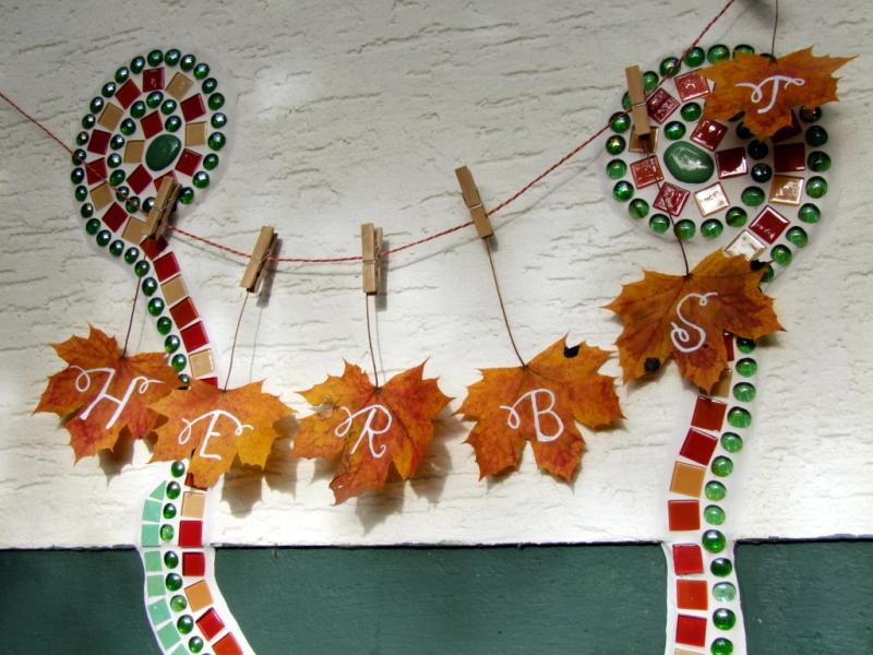 Herbstblätter Girlande basteln