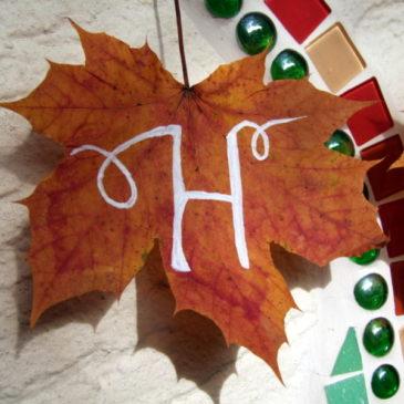 Herbstblätter beschriften