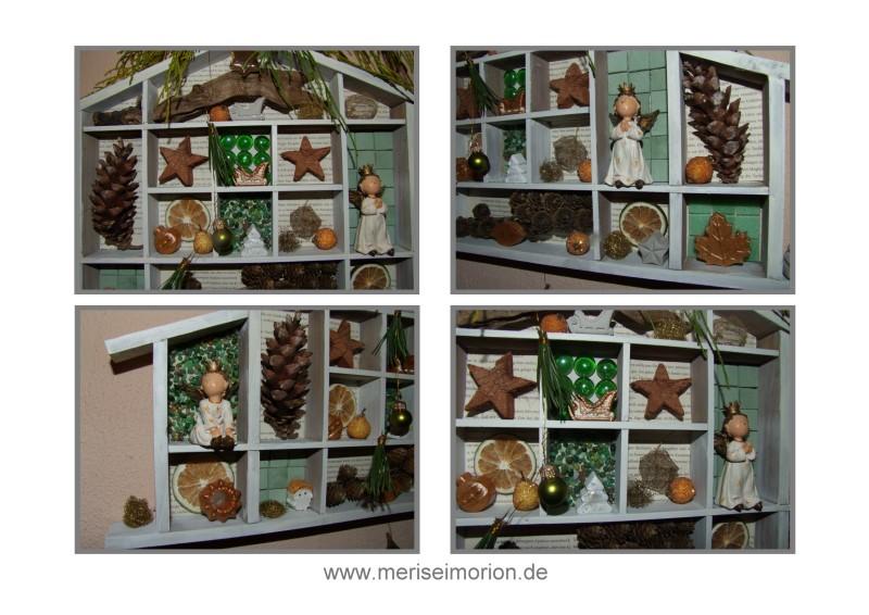 Setzkasten mit Weihnachtsdeko