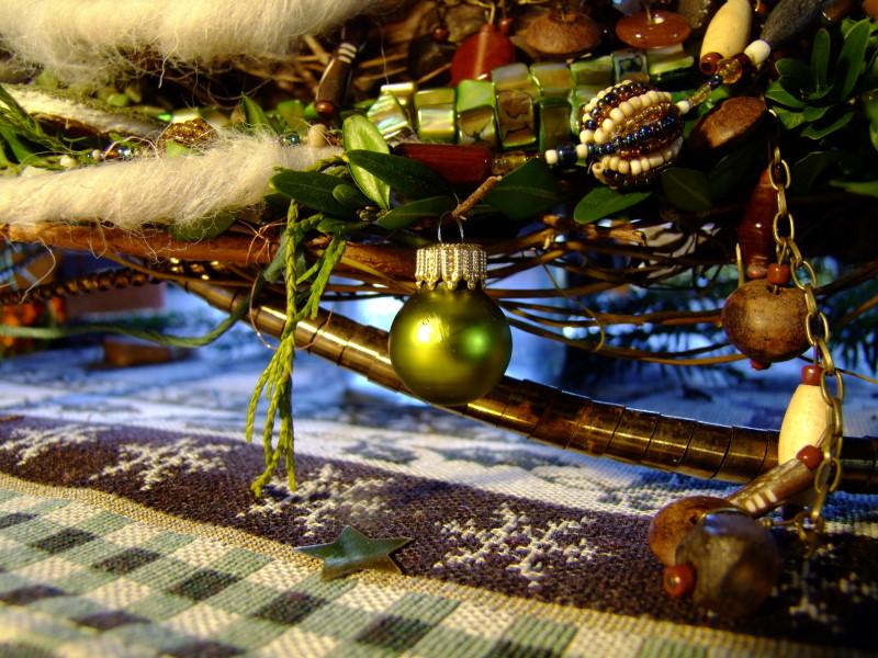 Weihnachtsdeko mit Kugeln