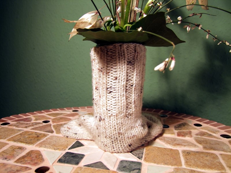 Strickoptik für Vase