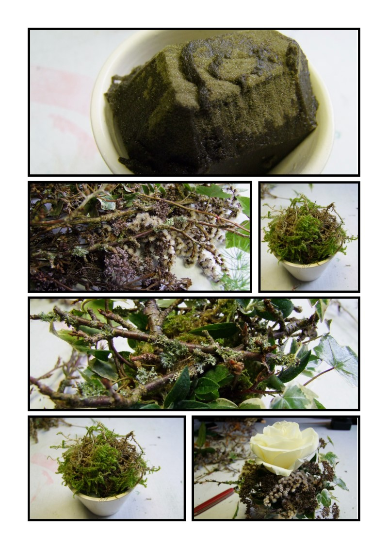 Anleitung Tischdeko mit weißer Rose