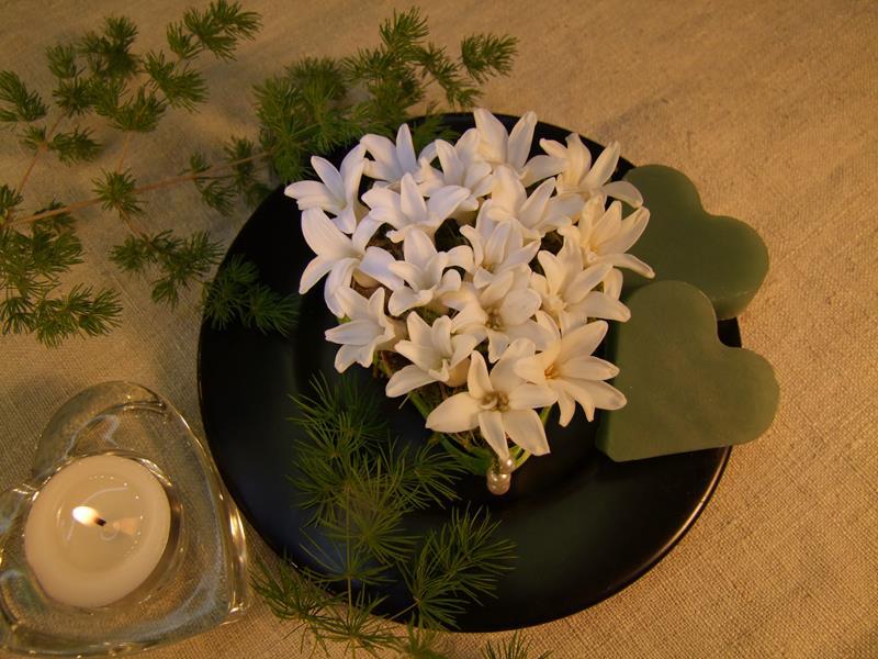 Tischdeko mit Hyazinthen