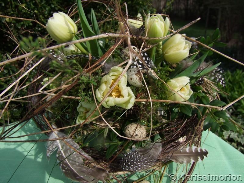 Frühlingsstrauß mit Tulpen
