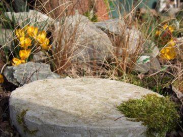 Gartenplatte aus Beton