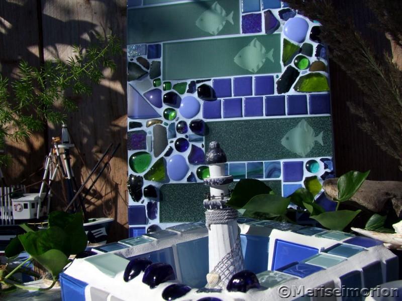Mosaik und Beton Deko