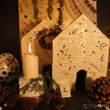 Weihnachtsdeko Mosaik Beton