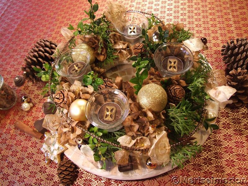 Weihnachtlicher Tischkranz