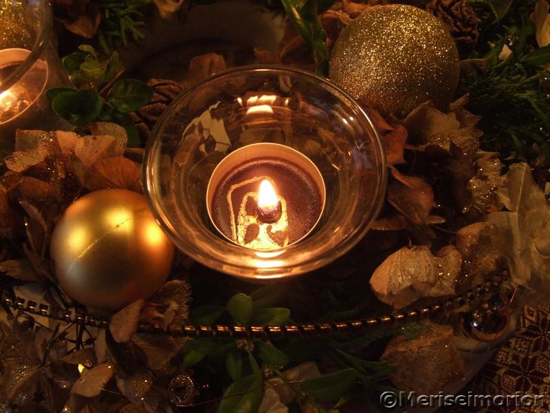 Kerzen im Kranz