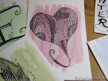 herzen malen mit Mustern