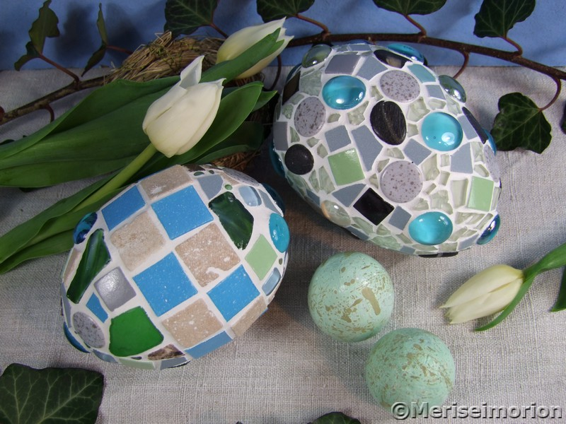 Osterdeko mit Mosaik