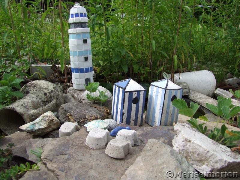 Maritime Deko im Garten
