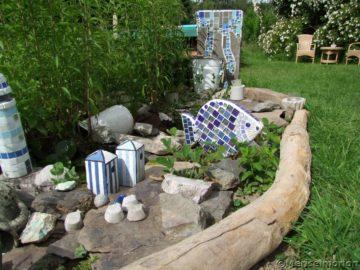 Ein Miniteich im Garten