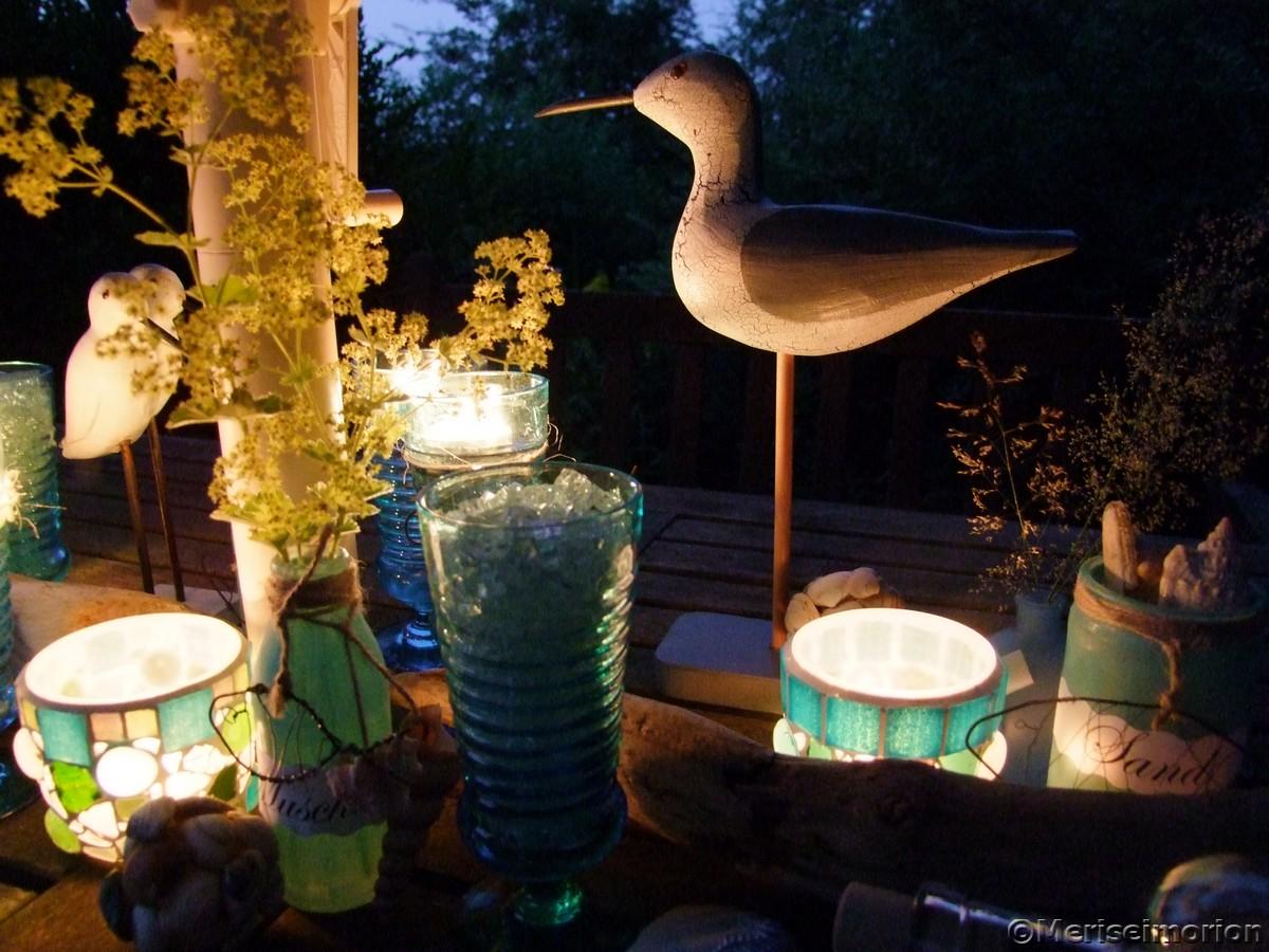 Blaue Stunde im Garten