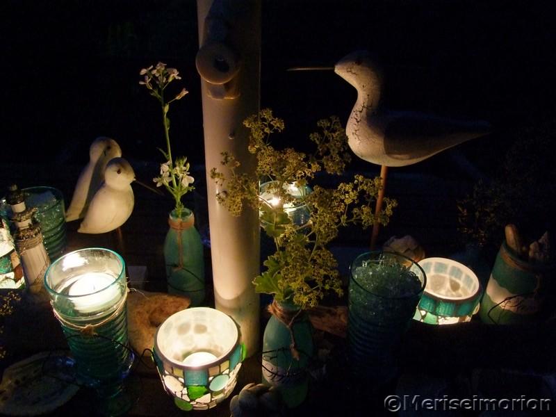 Sommerdeko bei Nacht