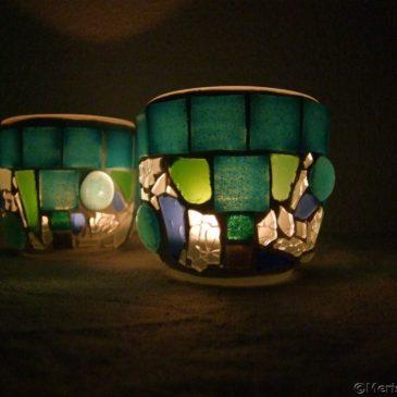 Neue Mosaik Windlichter