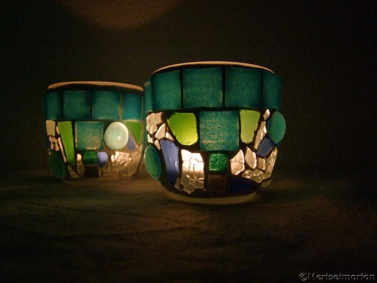 Mosaik Windlichter