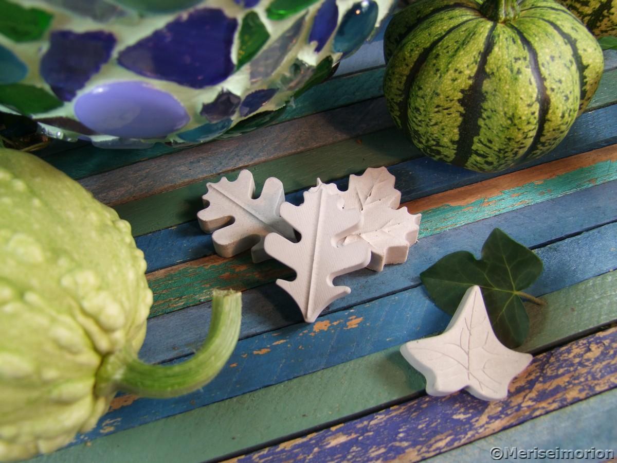 Betonblätter Herbstdeko