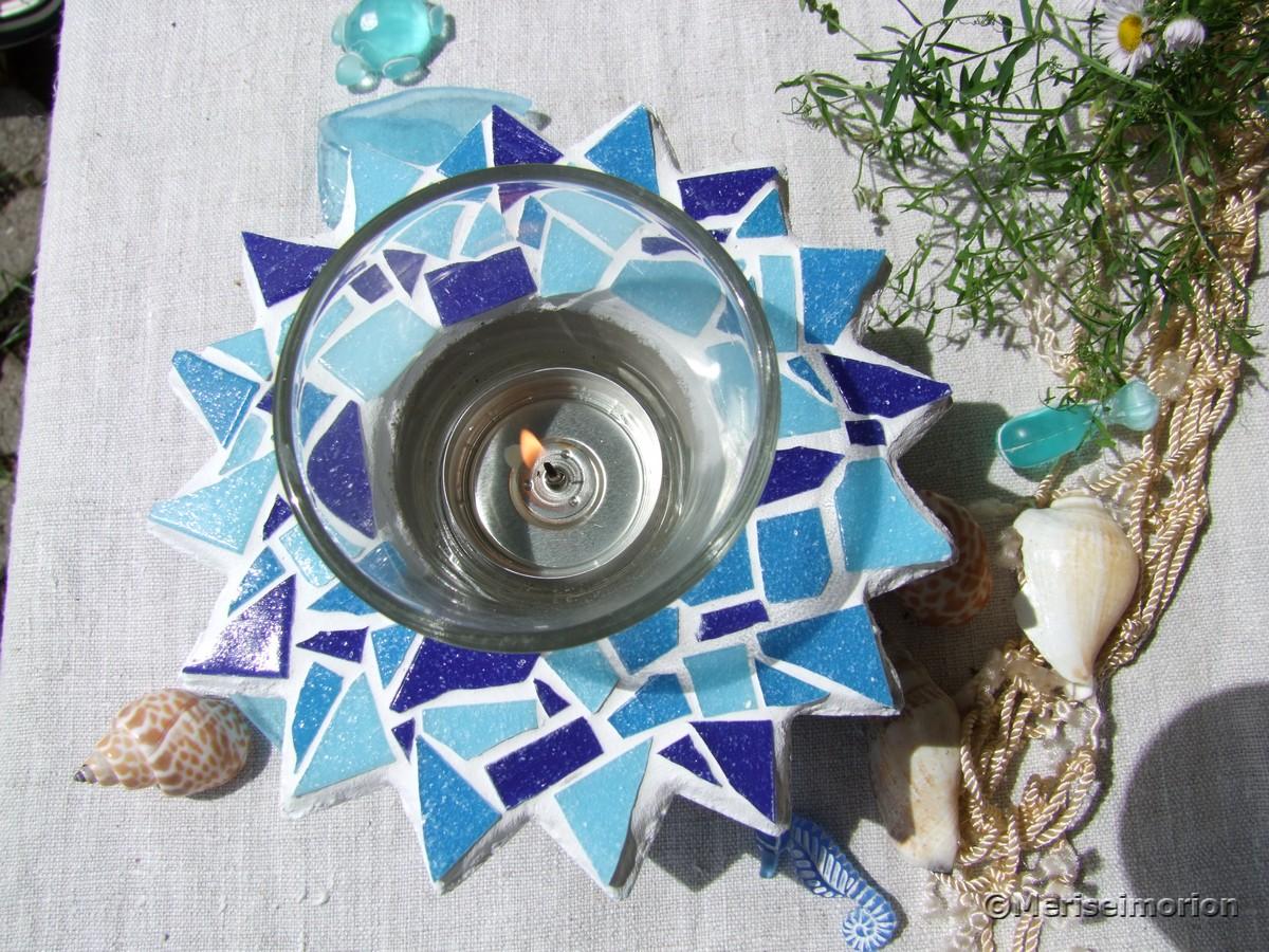 Beton und Mosaik Windlicht