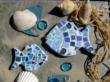 Mosaikfische basteln