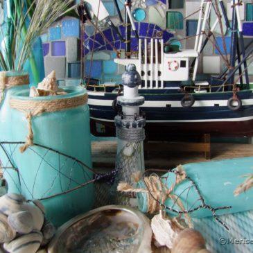 Maritime Deko mit Muscheln