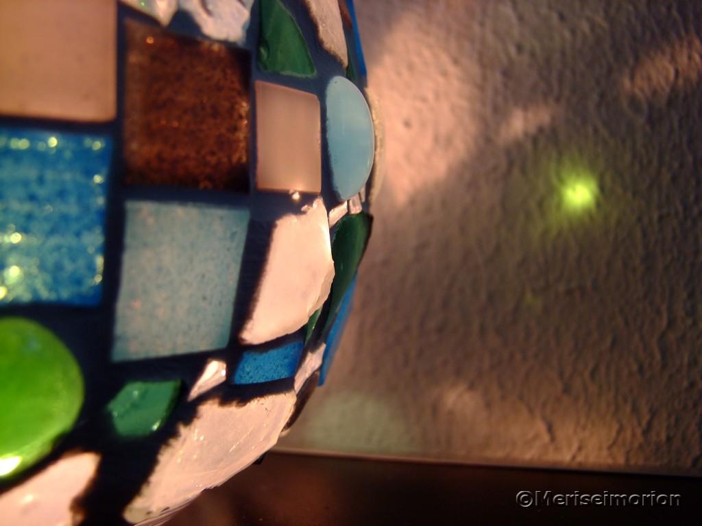 Mosaik Windlicht mit Kerze