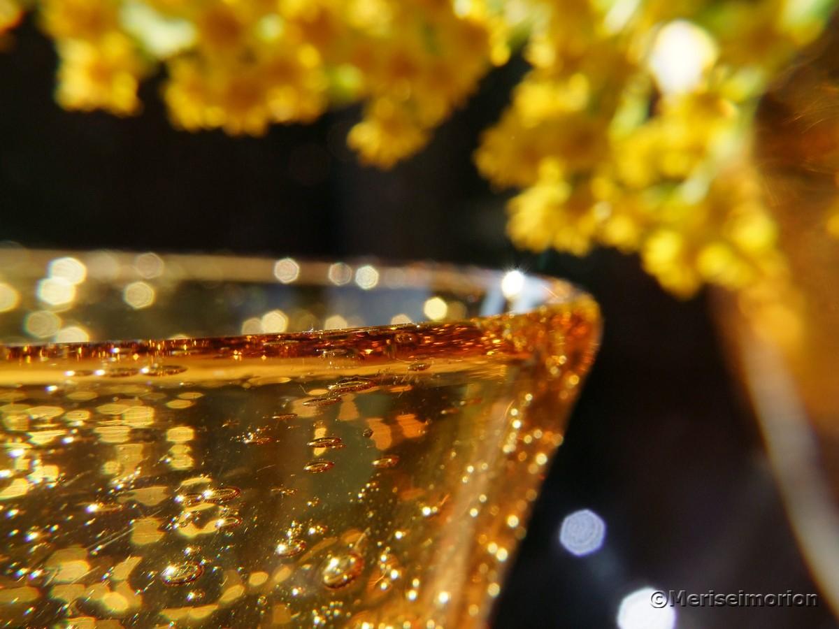 gelbes Glas Makrobilder