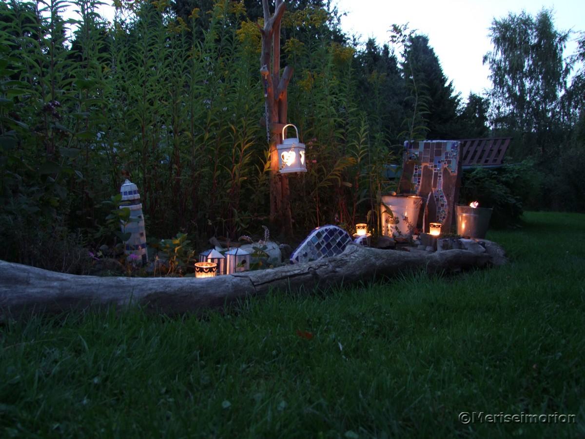 Sommerabend Gartenbeleuchtung