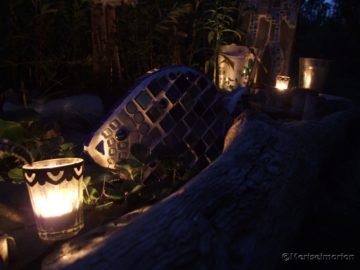 Mosaikfisch im Garten
