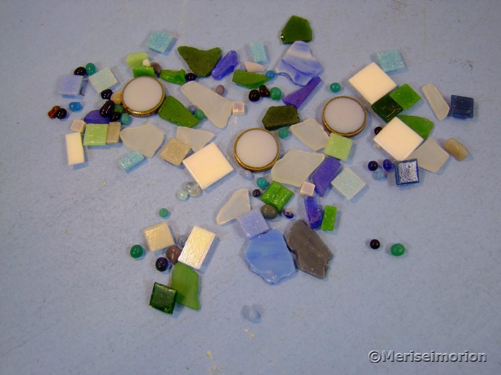 Mosaiksteine in Blau