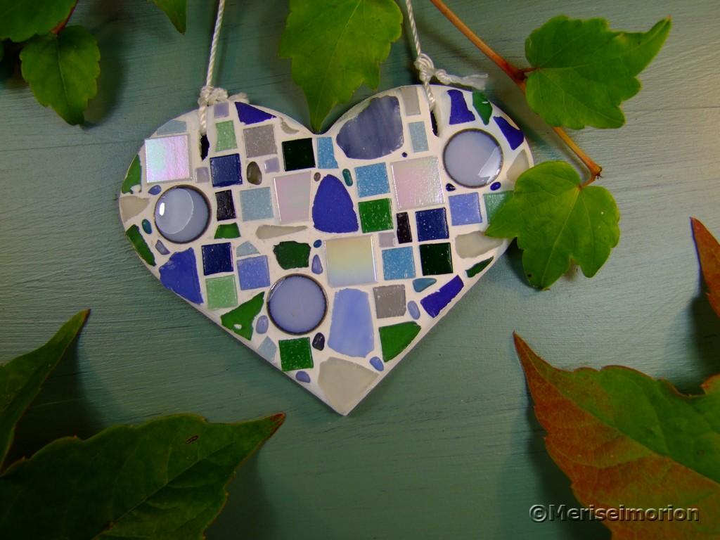 Mosaik Herz basteln