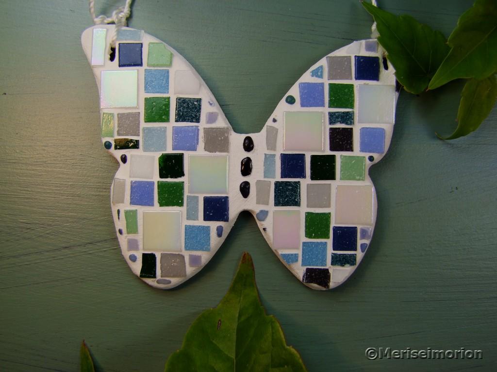 Mosaik Schmetterling basteln