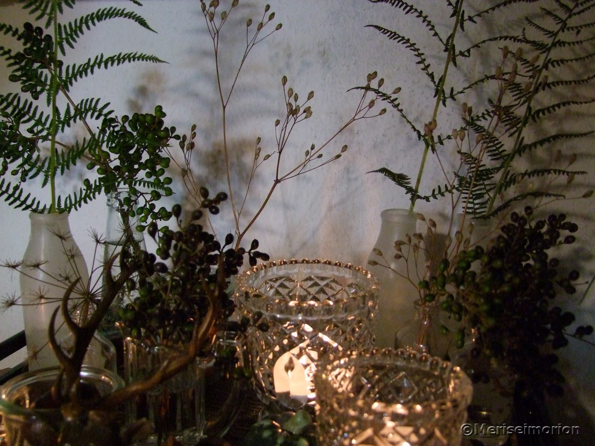Tablett dekorieren im herbst