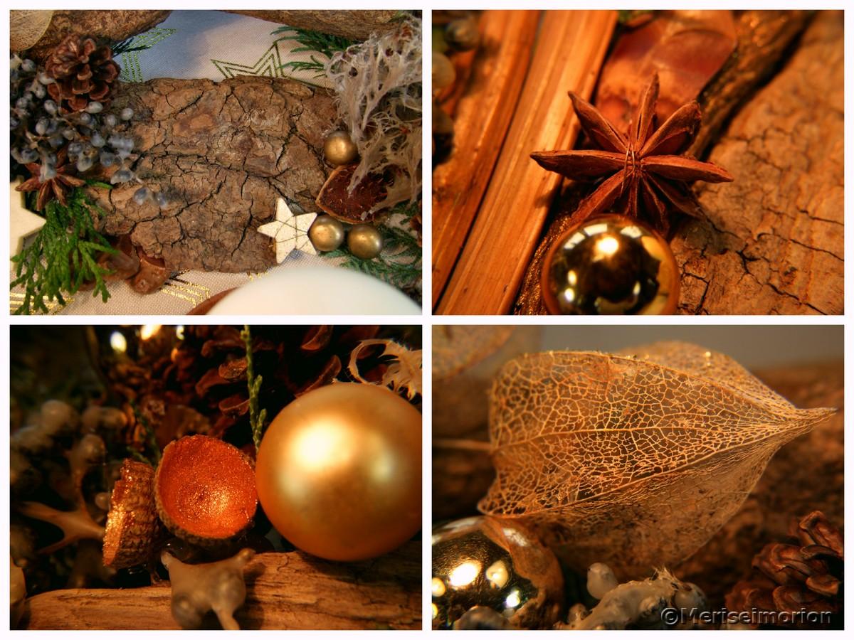 Adventsgesteck aus Naturmaterialien