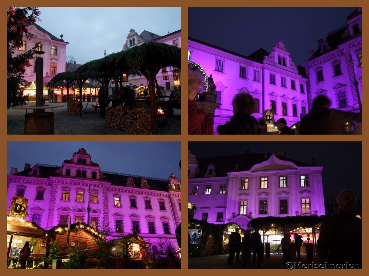 Schloss Thurn und Taxis beleuchtet