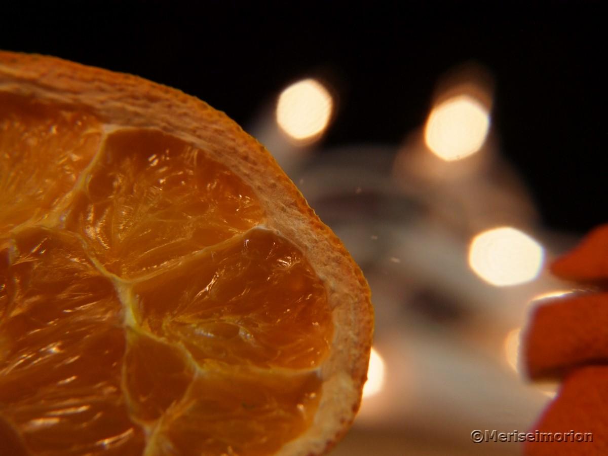 Orangenscheiben Makroaufnahme