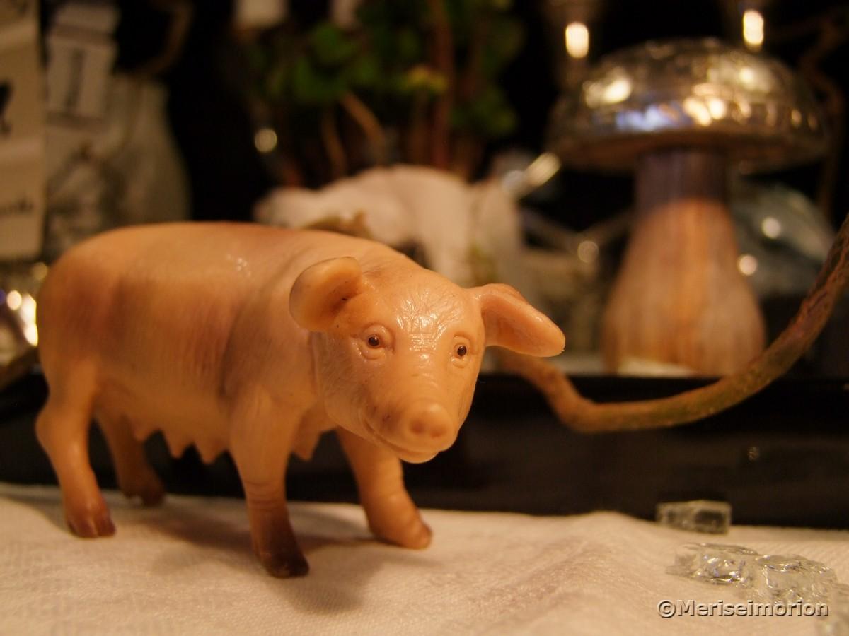 Silvesterdeko Glücksschwein