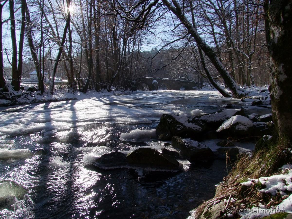 Wandern im Winter im westerwald