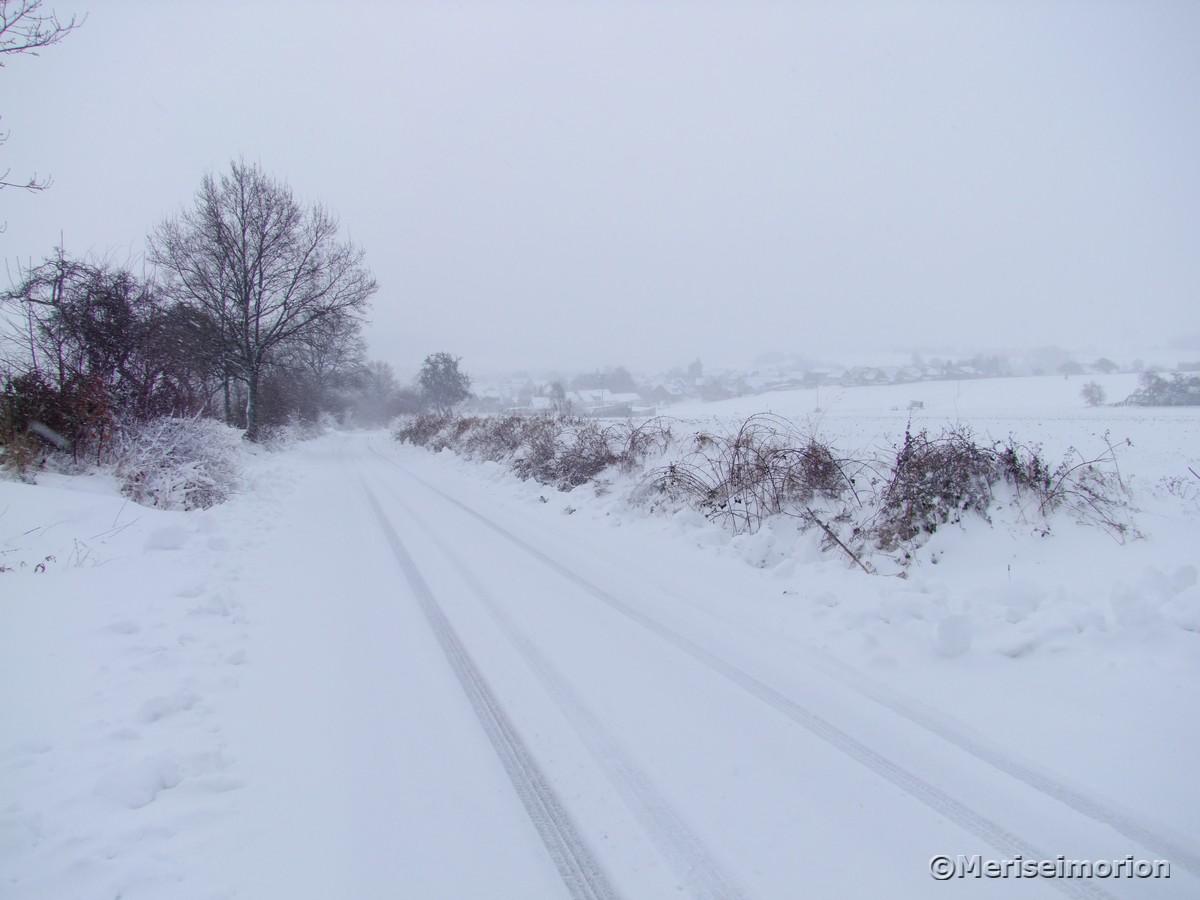 Schnee auf den Straßen
