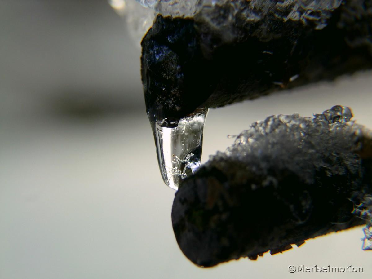 Eistropfen Makro