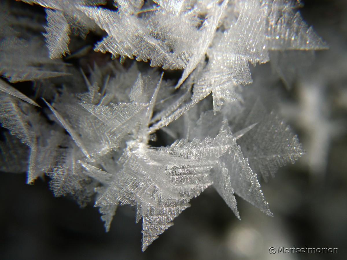 Eiskristalle Makrobilder