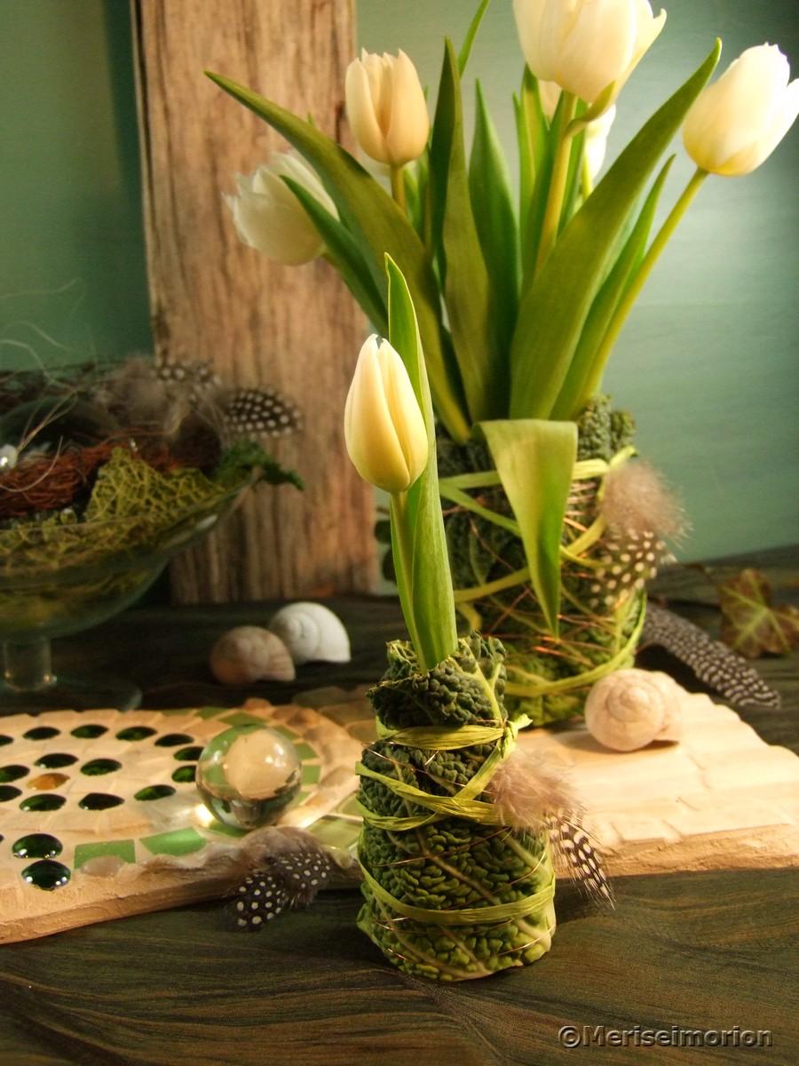 Marmeladenglas als Vase